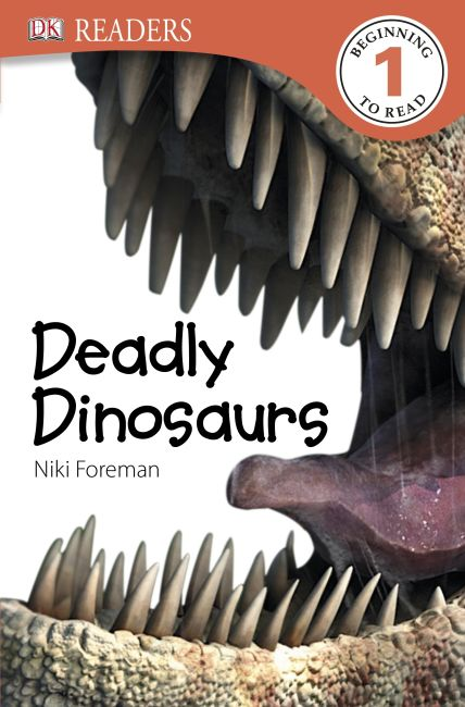 Paperback cover of DK Readers L1: Deadly Dinosaurs