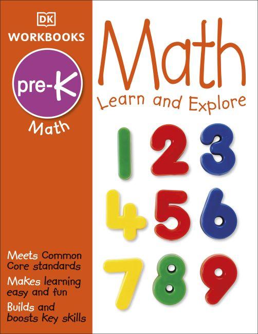 Paperback cover of DK Workbooks: Math, Pre-K
