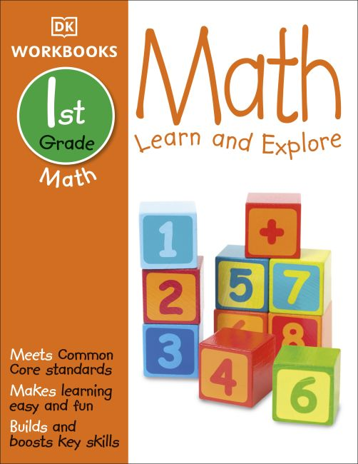 Paperback cover of DK Workbooks: Math, First Grade