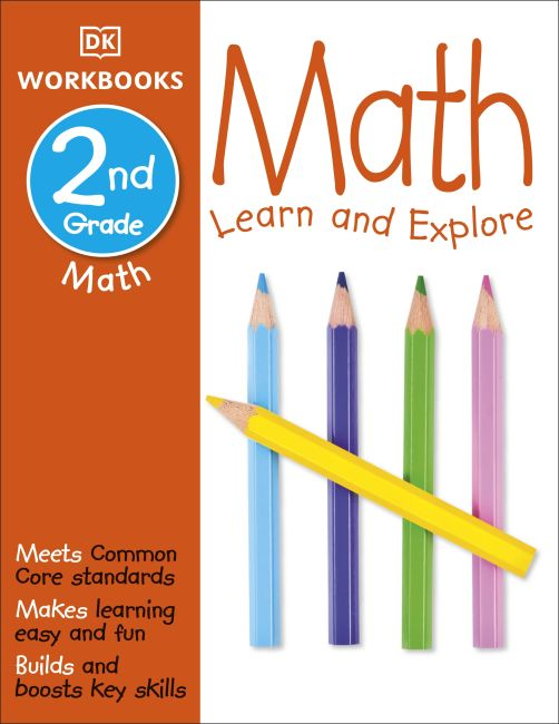 Paperback cover of DK Workbooks: Math, Second Grade