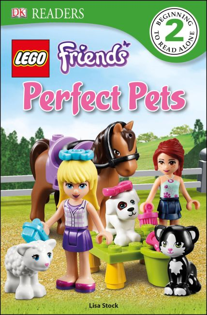 Paperback cover of DK Readers L2: LEGO Friends Perfect Pets