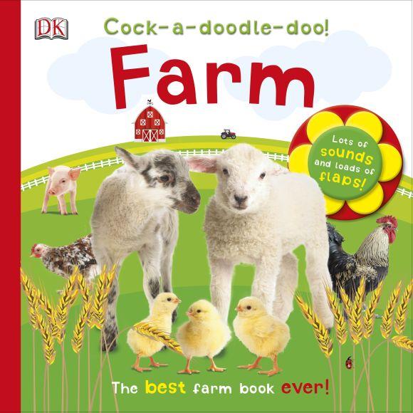 Board book cover of Cock-a-doodle-doo! Farm