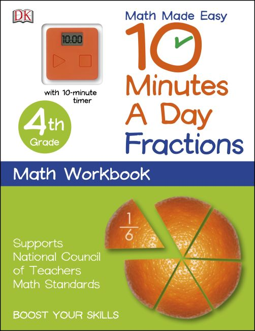 Paperback cover of 10 Minutes a Day: Fractions, Fourth Grade