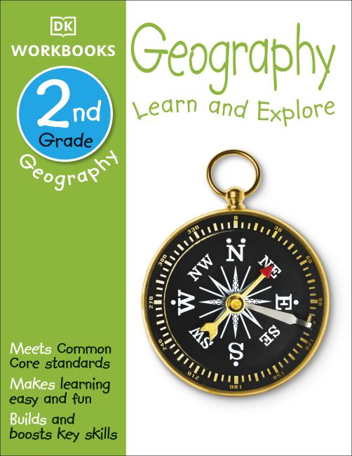 Paperback cover of DK Workbooks: Geography, Second Grade