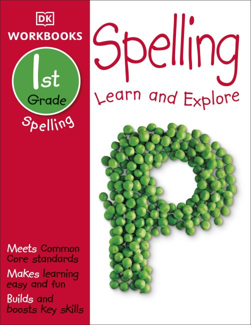 Paperback cover of DK Workbooks: Spelling, First Grade