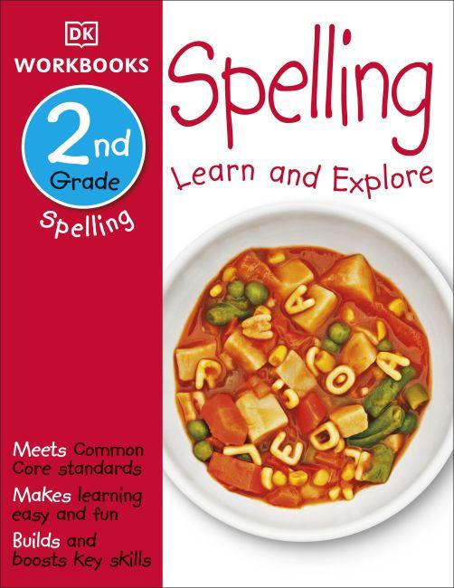 Paperback cover of DK Workbooks: Spelling, Second Grade