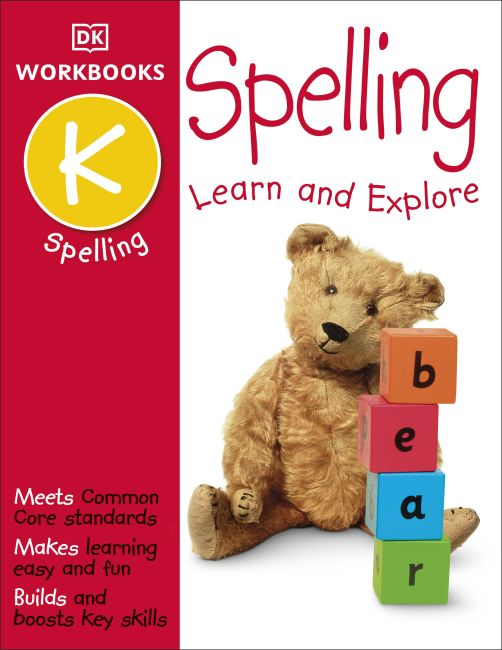 Paperback cover of DK Workbooks: Spelling, Kindergarten