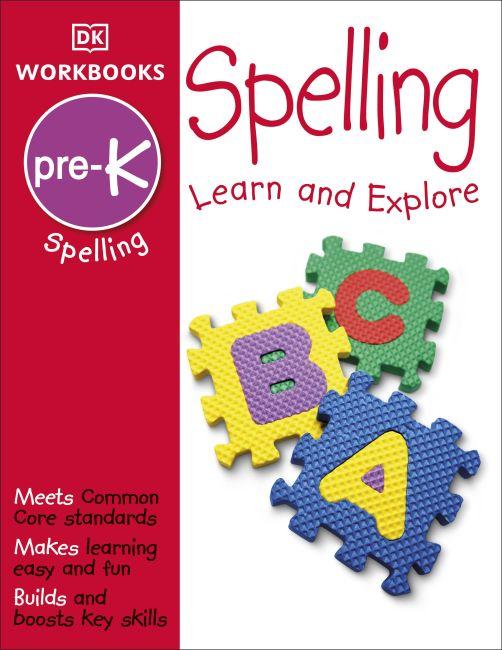 Paperback cover of DK Workbooks: Spelling, Pre-K
