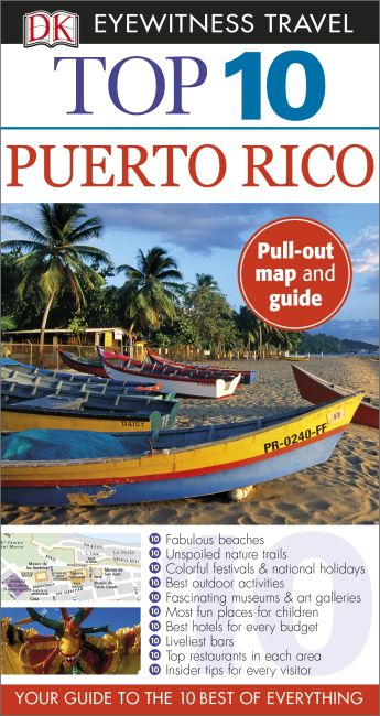 Paperback cover of DK Eyewitness Top 10 Puerto Rico