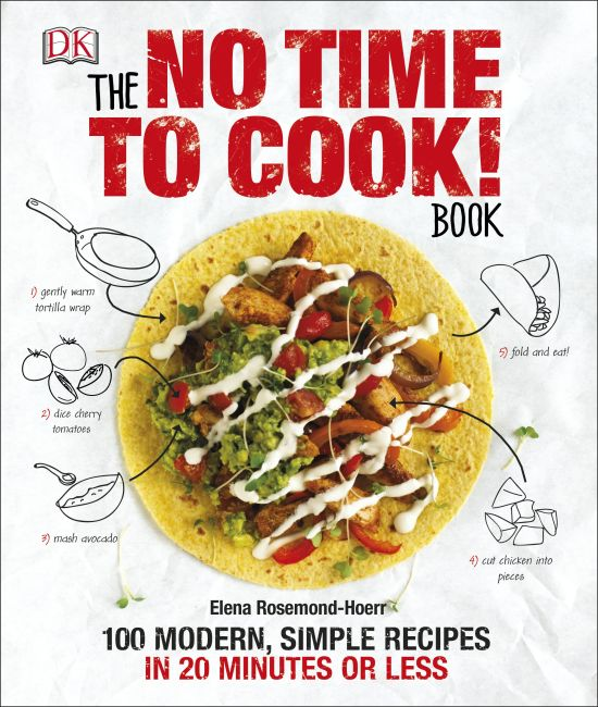 Hardback cover of The No Time to Cook! Book
