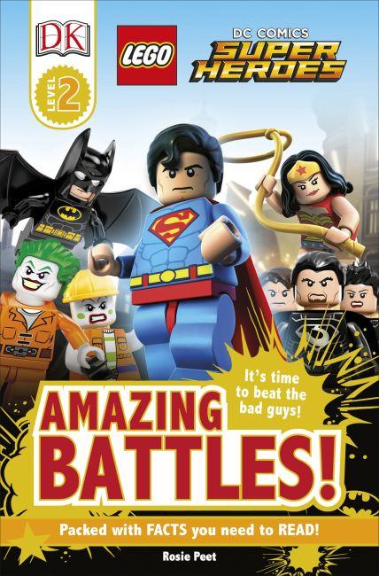 Paperback cover of DK Readers L2: LEGO® DC Comics Super Heroes: Amazing Battles!