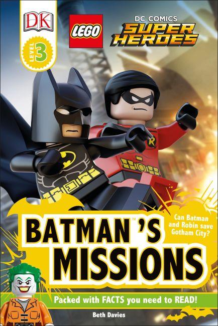 Hardback cover of DK Readers L3: LEGO® DC Comics Super Heroes: Batman's Missions