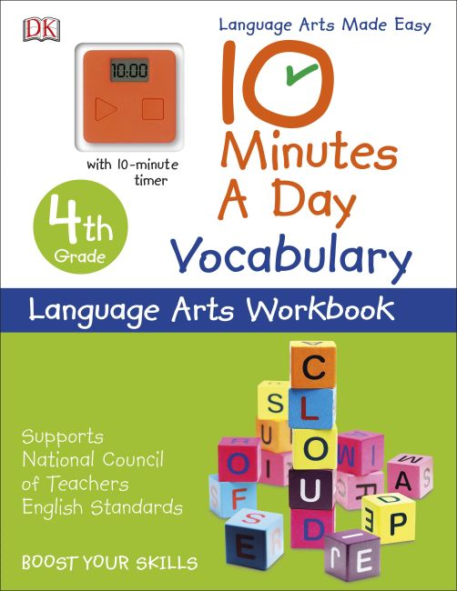 Paperback cover of 10 Minutes a Day: Vocabulary, Fourth Grade