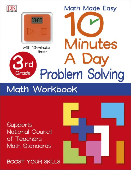 Paperback cover of 10 Minutes a Day: Problem Solving, Third Grade