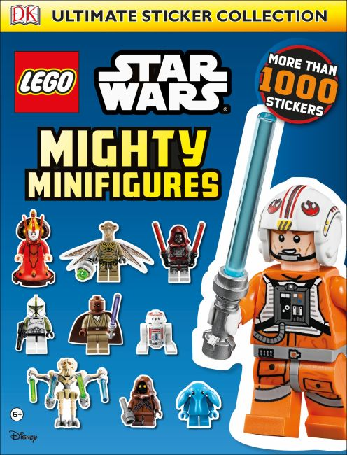 Paperback cover of Ultimate Sticker Collection: LEGO Star Wars: Mighty Minifigures