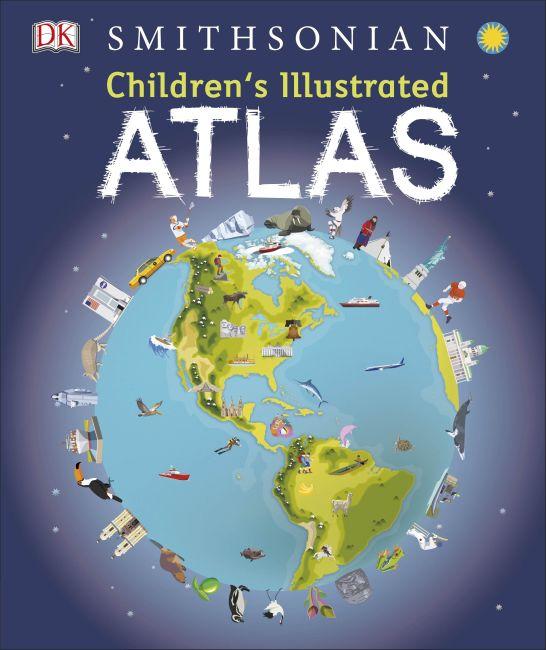 Hardback cover of Children's Illustrated Atlas