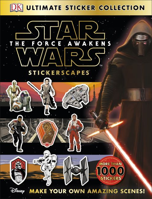 Paperback cover of Ultimate Sticker Collection: Star Wars: The Force Awakens Stickerscapes