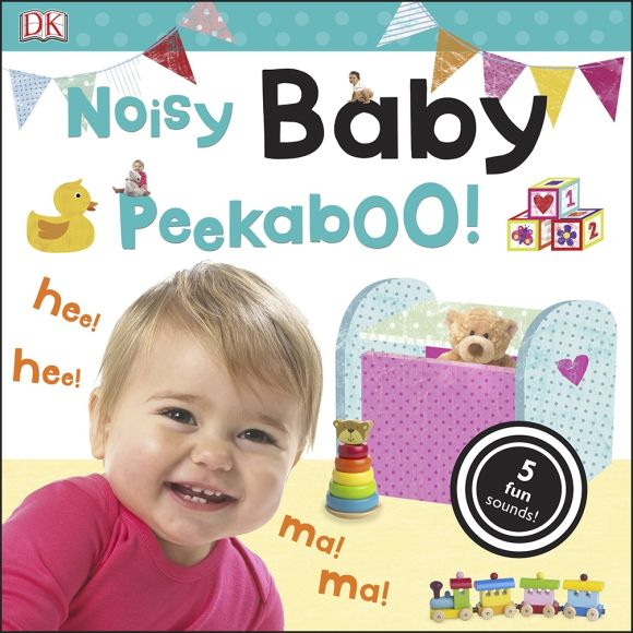 Board book cover of Noisy Baby Peekaboo!