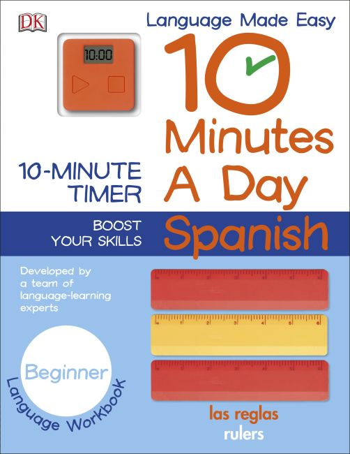 Paperback cover of 10 Minutes a Day: Spanish, Beginner