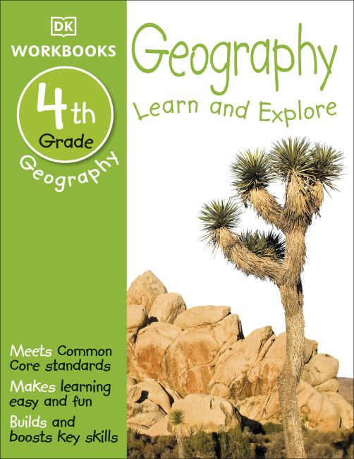 Paperback cover of DK Workbooks: Geography, Fourth Grade