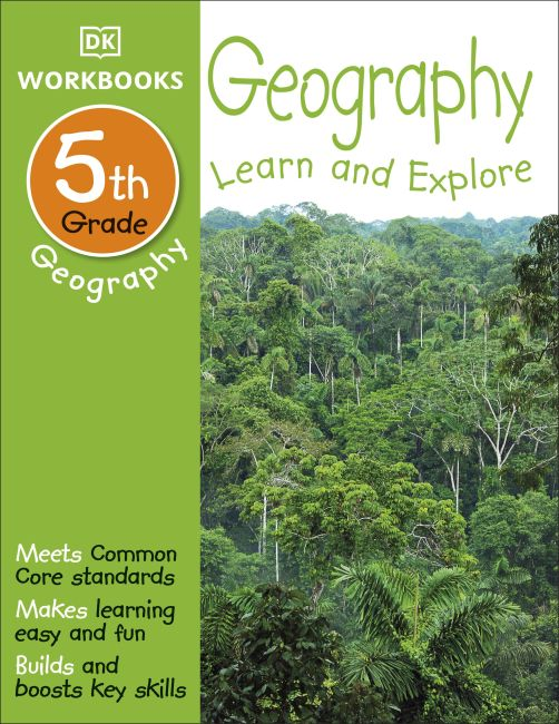 Paperback cover of DK Workbooks: Geography, Fifth Grade