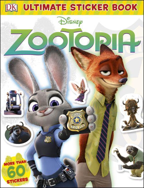 Paperback cover of Ultimate Sticker Book: Disney Zootopia