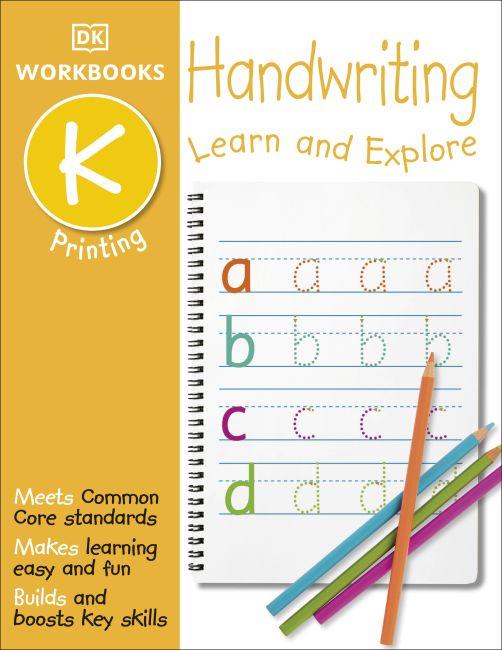 Paperback cover of DK Workbooks: Handwriting: Printing, Kindergarten