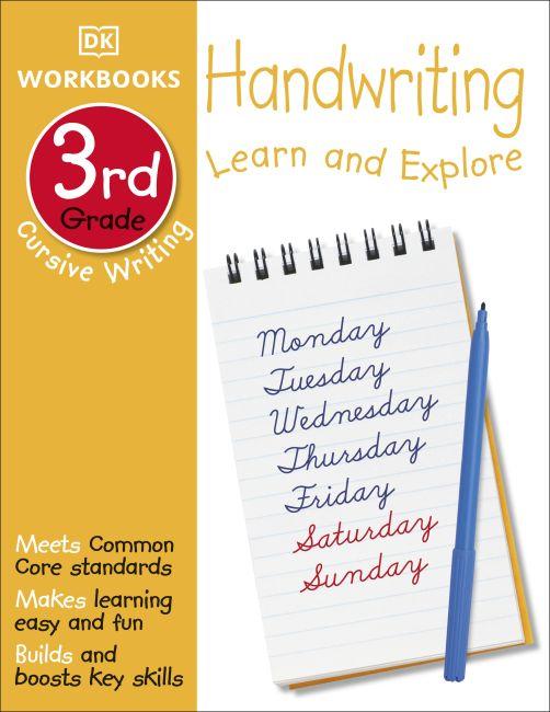 Paperback cover of DK Workbooks: Handwriting: Cursive, Third Grade