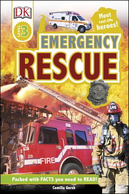 Hardback cover of DK Readers L3: Emergency Rescue