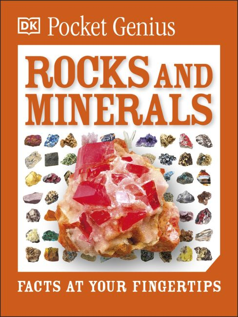 Paperback cover of Pocket Genius: Rocks and Minerals