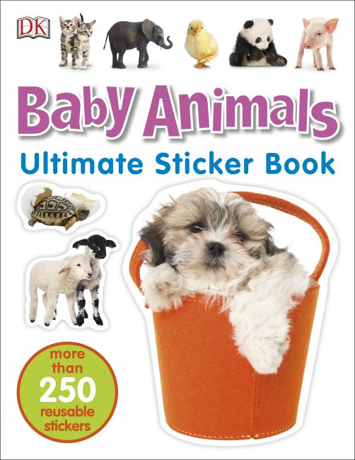 Paperback cover of Ultimate Sticker Book: Baby Animals