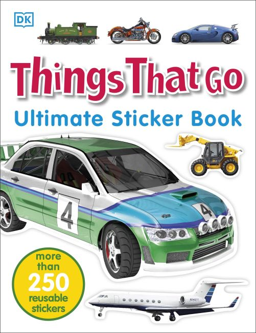 Paperback cover of Ultimate Sticker Book: Things That Go
