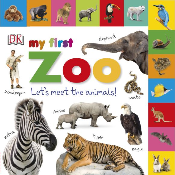 Board book cover of Tabbed Board Books: My First Zoo