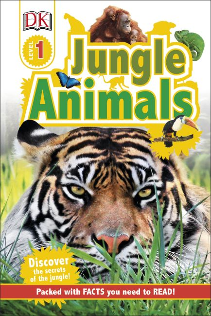 Hardback cover of DK Readers L1: Jungle Animals