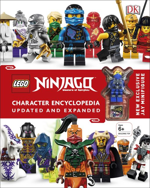 Hardback cover of LEGO NINJAGO Character Encyclopedia, Updated Edition