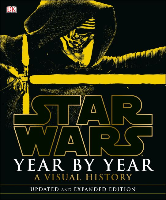 Hardback cover of Star Wars Year by Year: A Visual History, Updated Edition