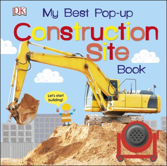 Board book cover of My Best Pop-up Construction Site Book