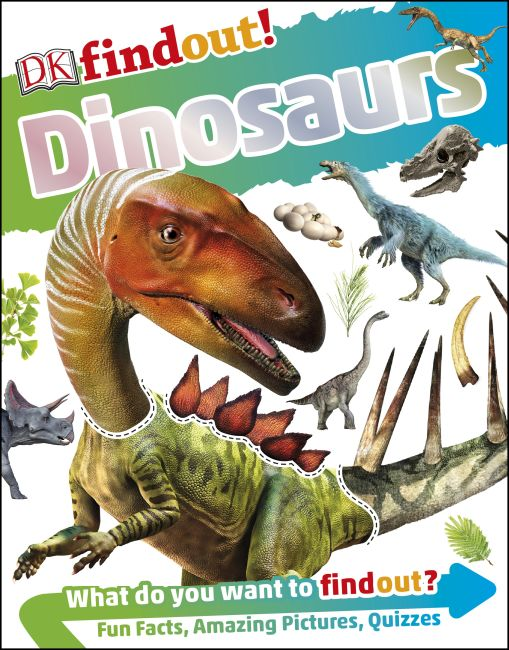 Paperback cover of DKfindout! Dinosaurs