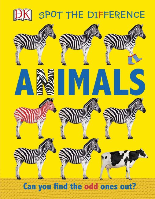 Board book cover of Spot the Difference Animals