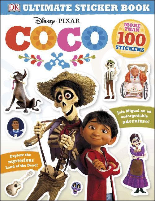 Paperback cover of Ultimate Sticker Book: Disney Pixar Coco