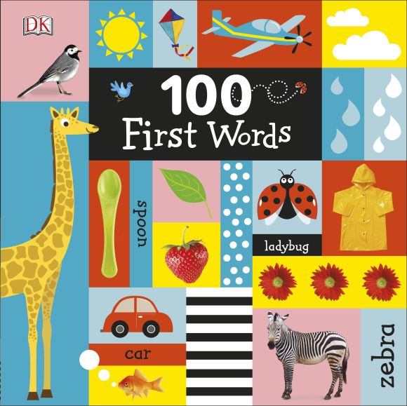 Board book cover of 100 First Words