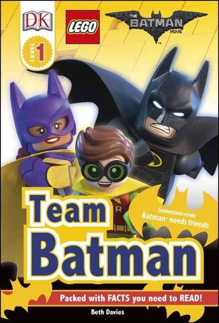 Hardback cover of DK Readers L1: THE LEGO® BATMAN MOVIE Team Batman