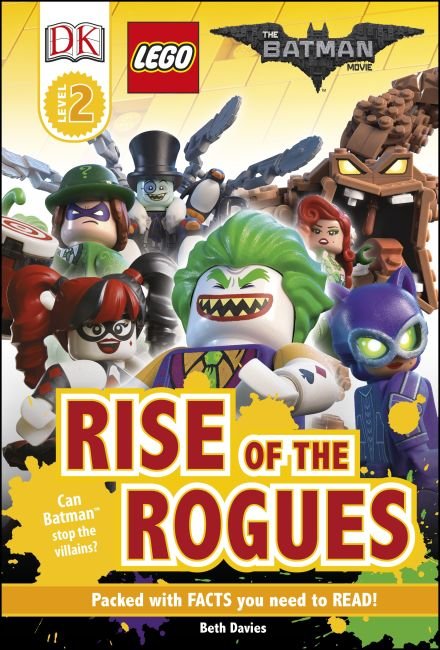 Hardback cover of DK Readers L2: THE LEGO® BATMAN MOVIE Rise of the Rogues
