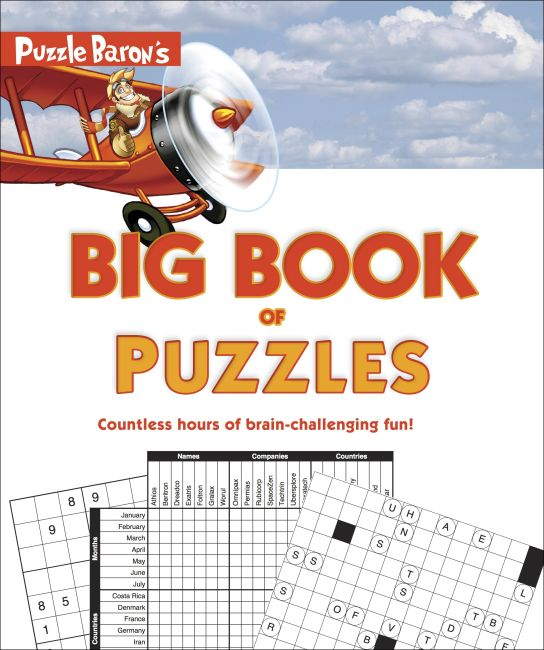 Paperback cover of Puzzle Baron's Big Book of Puzzles