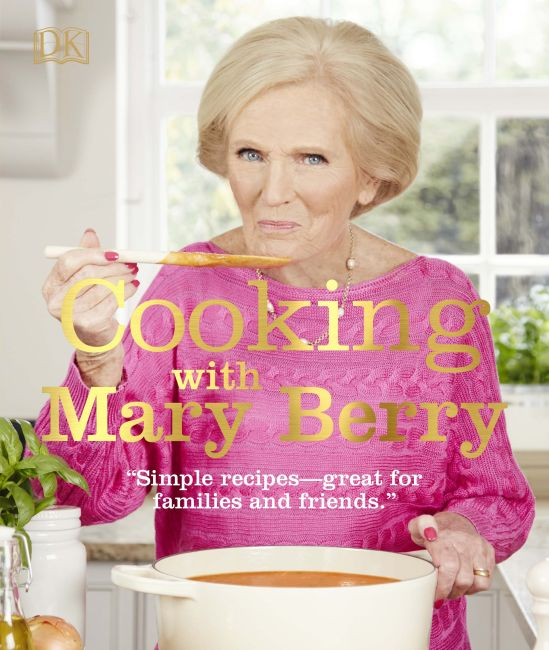 Hardback cover of Cooking with Mary Berry
