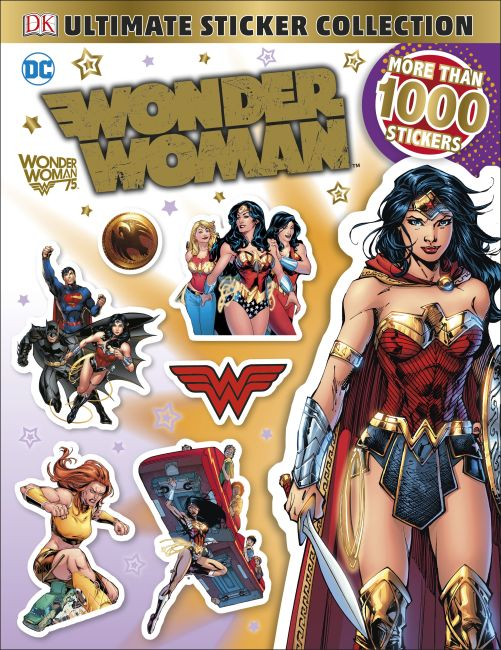 Paperback cover of Ultimate Sticker Collection: DC Comics Wonder Woman