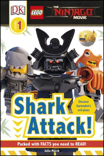 Hardback cover of DK Readers L1: The LEGO® NINJAGO® MOVIE™: Shark Attack!