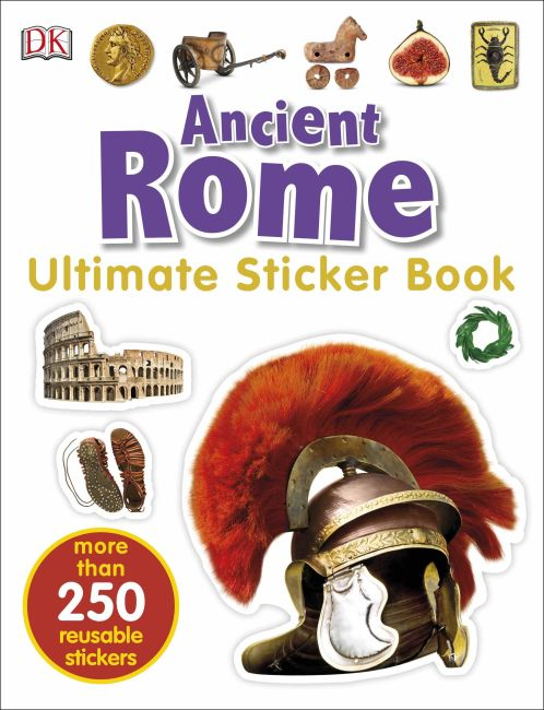 Paperback cover of Ultimate Sticker Book: Ancient Rome