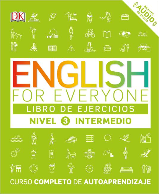 Paperback cover of English for Everyone: Nivel 3: Intermedio, Libro de Ejercicios