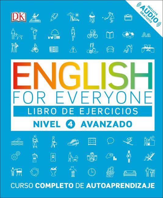 Paperback cover of English for Everyone: Nivel 4: Avanzado, Libro de Ejercicios